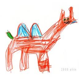 Happy Camel in Orange & Blue!